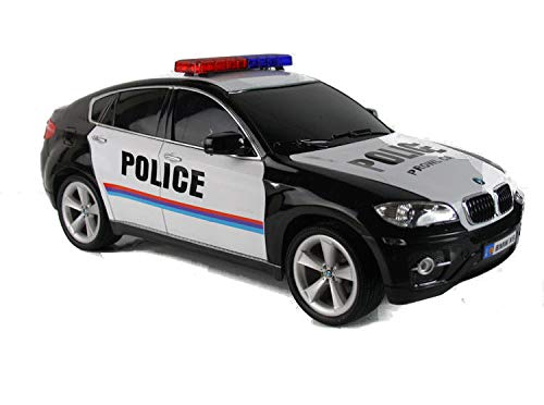 RC Polizeiauto BMW X6 SAC Polizei 36 cm lang ferngesteuertes Auto Licht Geländewagen Lizenz mit LED Front- und Heckleuchten - lizenziertes Modell