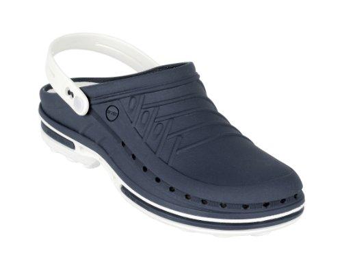 WOCK Clog Unisex-Erwachsene Clogs Weiß/Marineblau