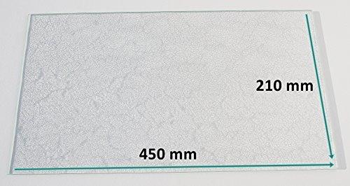 Kühlschrank Einlegeboden / Glasplatte / Gemüsefach – Strukturglas 4 mm dick – 450 mm x 210 mm - Direkt vom Glasereifachbetrieb!!!