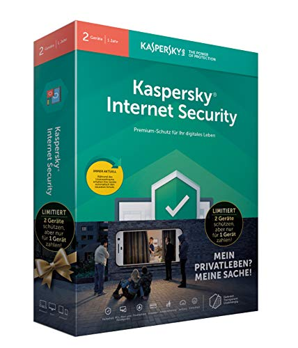 Kaspersky Internet Security 2019 I Standard I 2 Geräte I 1 Jahr I Limited Edition I Windows/Mac/Android I Download (Computer-software-antivirus)