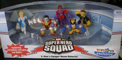 Marvel Superhero Squad Exclusive x-Men' S Danger Room Debacle 5-Pack (Angel, cylops, Wolverine, Colossus and Magneto)