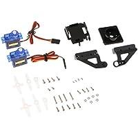 perfk Kit de Soporte Motor Servo Cámara para RC Robot Helicoptero Avión Instalación Eléctrica