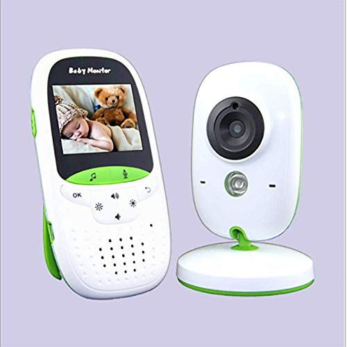 PQ&D Baby-Videomonitor, Schlaflied Video-Baby-Monitor 2,0-Zoll-Farb-LCD-Bildschirm Infrarot-Nachtsicht-Temperaturüberwachung -