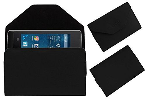 Acm Premium Pouch Case For Panasonic T9 Flip Flap Cover Holder Black  available at amazon for Rs.329