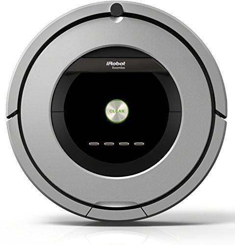 iRobot Roomba 886Staubsaugerroboter (beutellos, für Teppiche, Laminat, Linoleum, Parkett und Holzböden) schwarz/grau