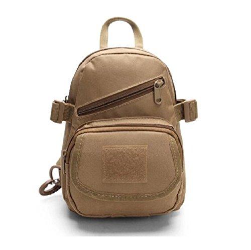 LJ&L Sac de poitrine sport masculin et féminin, sacoche tactique de camouflage sac à bandoulière voyage de loisirs, sac à dos réglable en ceinture