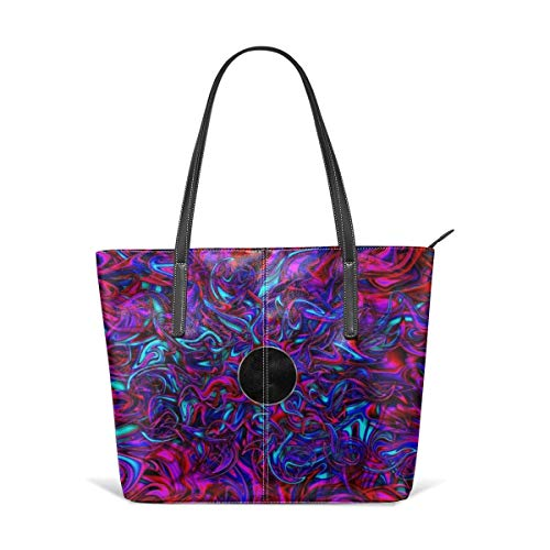 Blacklight Mädchen (XGBags Blacklight Leather Tote Large Purse Shoulder Bag Portable Storage HandBags Convenient Shoppers Tote For Travel Shopping Daily Life Tote Umhängetaschen)