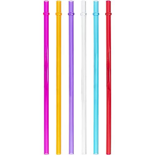 Southern Homewares 10/12/16/20 oz Acrylic Drinking Straws Fits Tervis Tumblers, Set of 6, Multi-Colour 24 16 Oz Glas