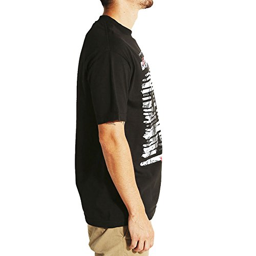DGK Men's United SS T Shirt Black Out Black