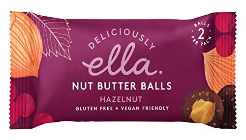 Bliss Zucker (Deliciously Ella Nut Butter Balls Haselnuss Multipack 12x40g veganer Snack mit cremiger Haselnussfüllung)