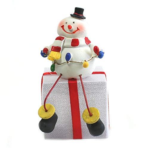 Bonhomme de Neige sur Paquet de Noel Lumineux