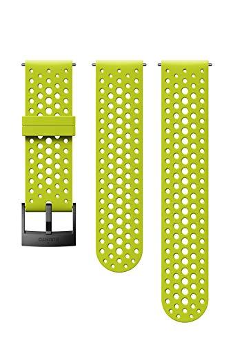 Suunto  Ersatz-Uhrenarmband, für alle Suunto Spartan Sport WRH und Suunto 9 Uhren, Silikon, Länge: 22,9 cm, Stegbreite: 24 mm, Grün/Schwarz, Inkl. Stifte zur Montage, SS050226000