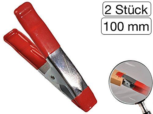 Lot de 2 Colle Pince Métal Revêtement caoutchouc 100 mm