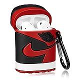 Leosimp Custodia per Airpods 1/2 Cute Case, Cartone Bello Morbida in Silicone per Air pods,Cartoon Divertente Disegno Personaggio Caso per Ragazza Ragazzo Adolescente Airpod(3D Red Shoes)