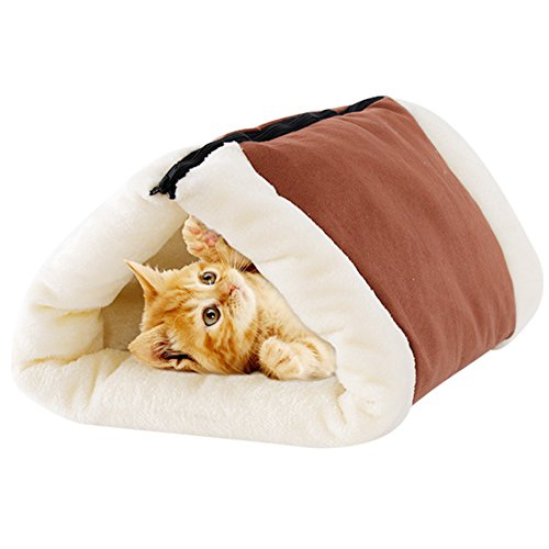 2-in-1-Cat Pet Hundebett MW Tunnel Fleece Tube Indoor Kissen Matte Pyramide Pad für Hunde Welpen Kätzchen Kitty Hundehütte Shack House Heizung Pads Für Welpen