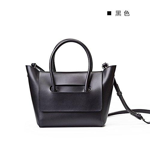 Nouveau mini d'origine simple sac à main besace en cuir sac à main d'épaule Black