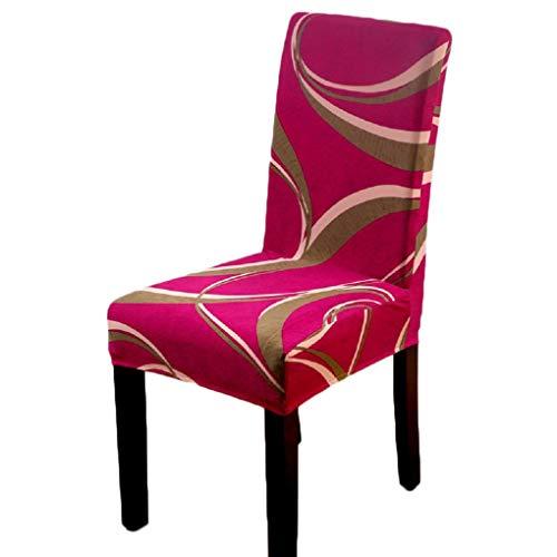 WANGSAURA Stuhlhusse Stretch Stuhlhussen für Dining Chair Abnehmbare elastische Sitzbezüge Hochzeit Bankette Stuhl-Abdeckung Dekorative Stuhlüberzüge (C, OneSize)