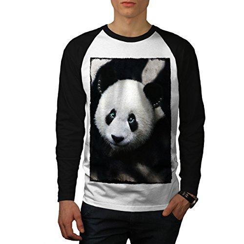 wellcoda Gigante Panda Orso Uomini Maglietta Baseball Giungla VitaRaglan