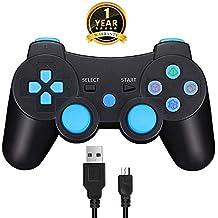 TPFOON Mando PS3 Inalámbrico Controller Bluetooth con Función SIXAXIS y Doble Vibración para Sony Playstation 3 Incluyendo Cable De Carga