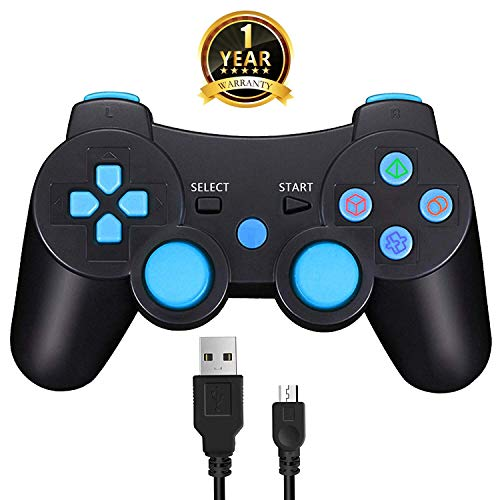 Wireless PS3 Controller Bluetooth Game Romote Controller mit Double Shock Bonus kostenloses Ladekabel für ps3 Playstation 3