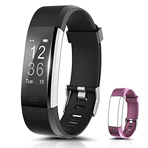 Fitness Tracker, Ronten R2 Plus Heart Rate Monitor Activity Tracker, Waterproof Smart Wristband, Bluetooth Wireless Activity Bracelet with Replacement Strap for Android and IOS Smartphones