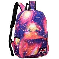 Mochila bolsas, Global Fashion Galaxy cielo impresión mochilas colegio mochila/escuela mochila para niños y niñas adolescentes.