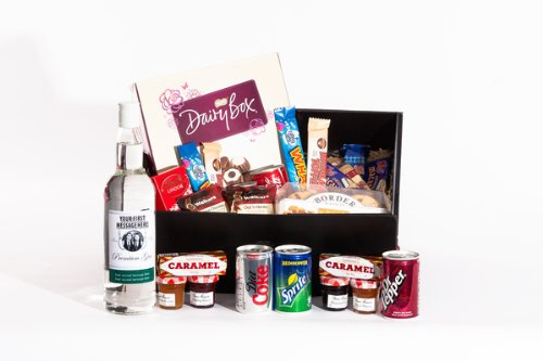 Large Personalised Sweet Treats and Gin Hamper. Birthday, Anniversary, Engagement, Easter, Mother's day, Father's day, Valentine's day, Wedding or Christmas gift idea