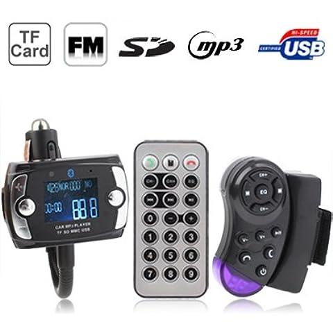 Bluetooth Transmisor Del Coche Manos Libres Reproductor De Mp3 Fm Con Distancia En El Volante, Disco De Soporte De Flash Usb Y Sd / Mmc / Tf