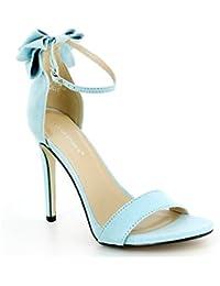 Ideal Shoes - Sandales ouvertes avec nœud à l'arrière Gina