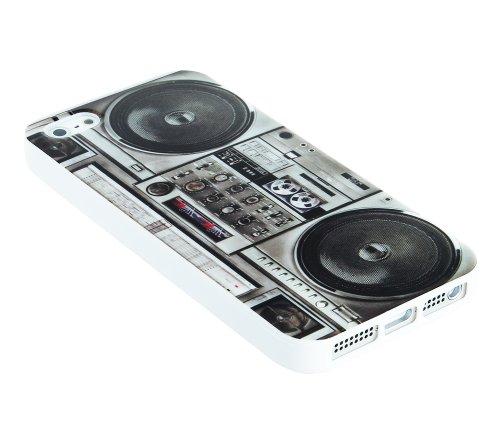 Kit Me Out FR Coque en gel TPU pour Apple iPhone SE / 5S - multicolores imitation radiocassette multicolores imitation radiocassette