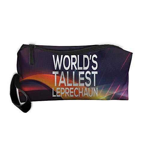 (World's Tallest Leprechaun Makeup Bag/Travel Cosmetic Bag/Brush Pouch Case With Zipper Carry Case)