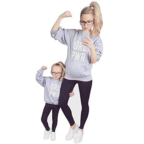 Sensail Mere et bébé Fille Vetement Sweatshirt Pullover Vetement de Lettres t-shirt tops vêtements de famille tenues Sensail