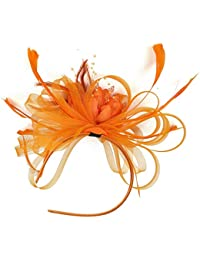 392f9c79 Fascinator Flower Feather Fascinators for Women Hat for Royal Wedding Party