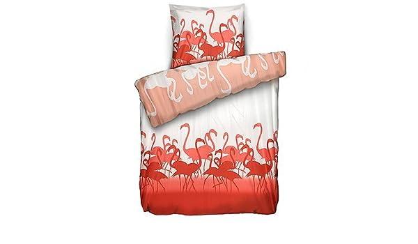 Jerymood Mf Jersey Interlock Bettwäsche Flamingos Einzelbett2 Tlg