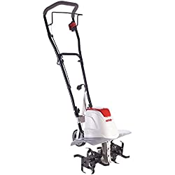 Ikra suelo azada motocultor eléctrico fem 1500, flexible ancho de trabajo de 17–45cm, profundidad de trabajo hasta 23cm, Fuerte 1500W, ergonómica y plegable