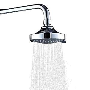WinArrow Cabezal Ducha Filtro, Vitamina C Iones KDF55 Alcachofa Ducha Filtro Elimina Cloro y Flúor, Suaviza el Agua con Panel Microporoso 304 Inox de 80mm 200% de Alta Presión y 40% de Ahorro Agua