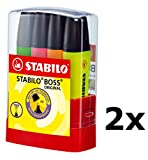 Stabilo Textmarker BOSS ORIGINAL (2X 4er Tischset)