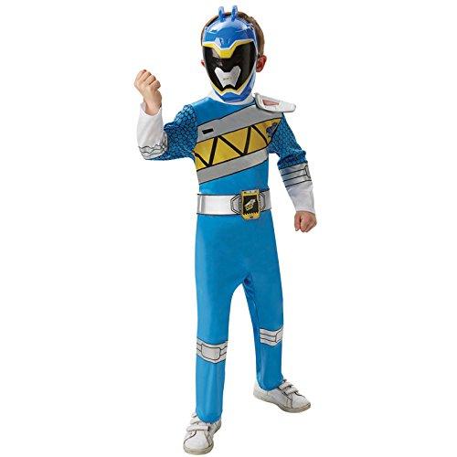 Blue Power Ranger Deluxe Kinder Gr. S - L Karneval Kinderkostüm Superheld Held (Kostüme Kinder Power Ranger Blue)