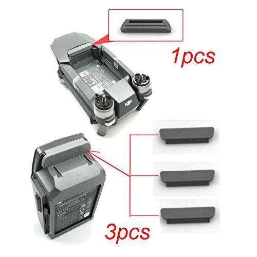 Preisvergleich Produktbild Omiky® 2017 Art und Weise 1PC für Rahmen 3PC für Batterie 3D druckte staubdichte Stecker-Abdeckung für DJI Mavic PRO