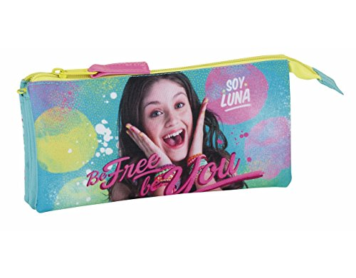 Soy Luna Be Free Portatodo Triple, Color Azul/Rosa