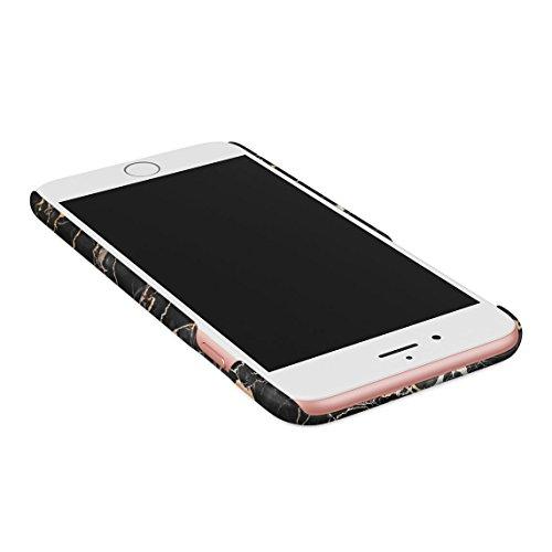 Solid White Original Marble Print Custodia Posteriore Sottile In Plastica Rigida Cover Per iPhone 6 Plus & iPhone 6s Plus Slim Fit Hard Case Cover Golden Onyx