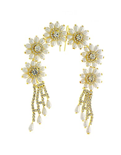 Anuradha Art Circular Designer Classy Studded Sparkling Stone Hair Accessories Brooch For Women/Girls
