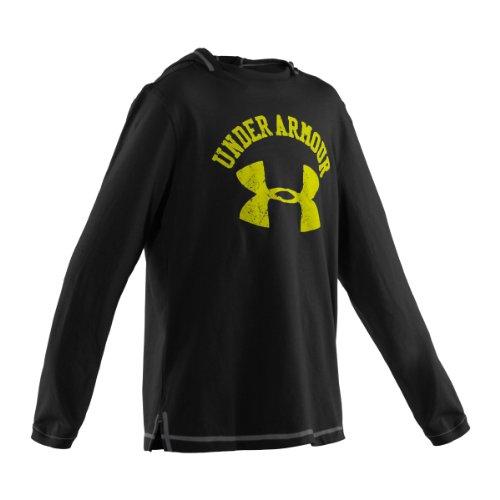 Under Armour Jungen Shirt Ua Collegiate Long Sleeve Hoody, schwarz stu, 140/152