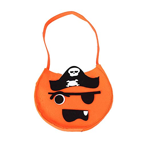 Xiton Halloween Pumpkin Bag Dekorative Props Portable Smile Pumpkin Korb Kinderhandtaschen Candy Bags Geschenktasche Stofftaschen