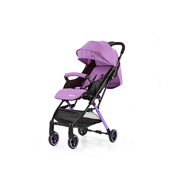 Giow Baby Four-Wheeled Cart, Folding Stroller Lightweight And Portable Five-Point Seat Belt Giow  1