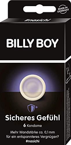 Billy Boy Sicheres Gefühl Kondome - transparente Kondome mit mehr Wandstärke, 6-Stück -