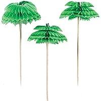 Amscan International Palm Tree Honeycomb Picks Hawaiian, Pack of 12