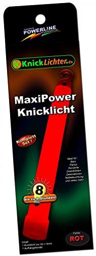 1 Maxi Power Knicklichter ROT (150x15mm) Testnote 1,4 'SEHR GUT'