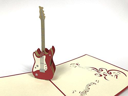 Gitarre 3D Pop up Grußkarten Jahrestag Baby Geburtstag Ostern Halloween Mother 's Father 's Day New Home NEW YEAR Thanksgiving Valent