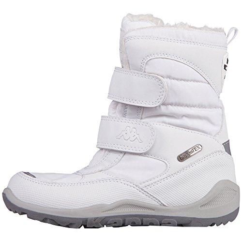 Kappa Unisex-Kinder Tundra Tex Teens Kurzschaft Stiefel, Weiß (1010 White), 37 (Stiefel Kinder Weiße)